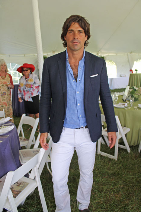 Polo player and model Nacho Figueras wearing Ralph Lauren.