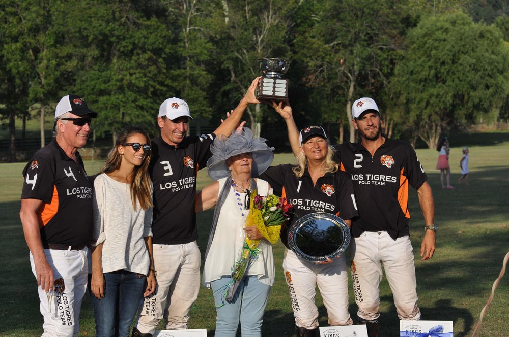Los Tigres, winners of the 10th Ride to Thrive Polo Classic (photo by Sandra Vannoy).