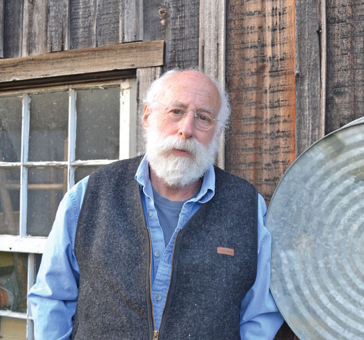Greer outside his workshop near Purcellville.