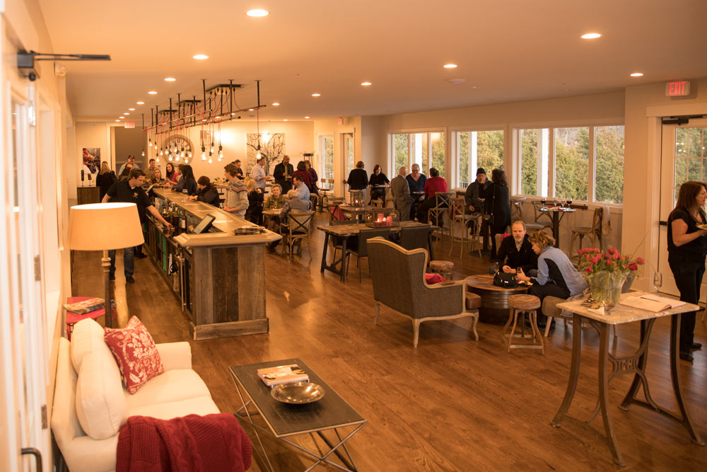 The elegant new tasting room will accommodate more patrons.