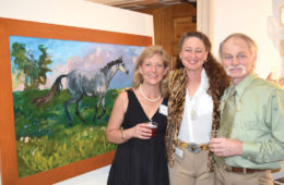 Head of School and Host, Beth Ann Slater with local artist Gail Guirreri-Maslyk and William Ley.