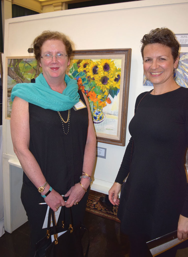 Local award winning artist, Marci Nadler with friend Michaela Mazuchova.