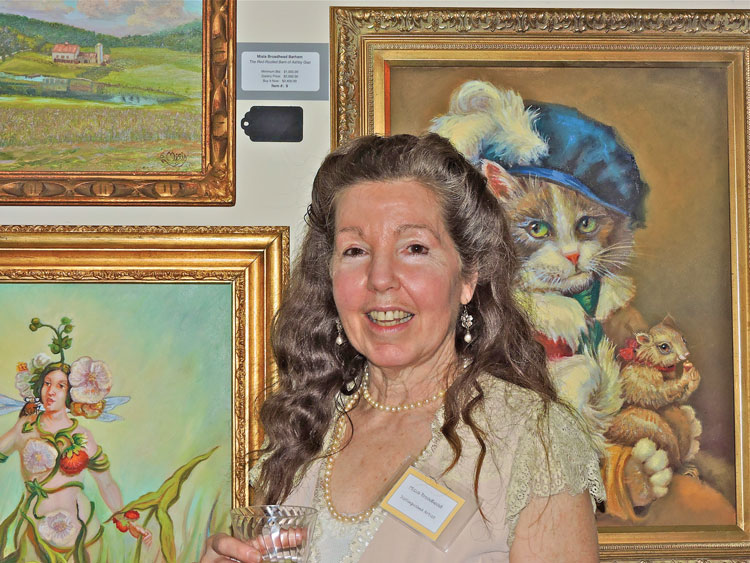 Misia Broadhead with some of her paintings. (Credit Richard Hooper.)