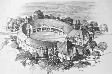 The Horseshoe Shaped Stable from Sporting Stables and Kennels by Richard Gambrill and James Mackenzie, 1935.