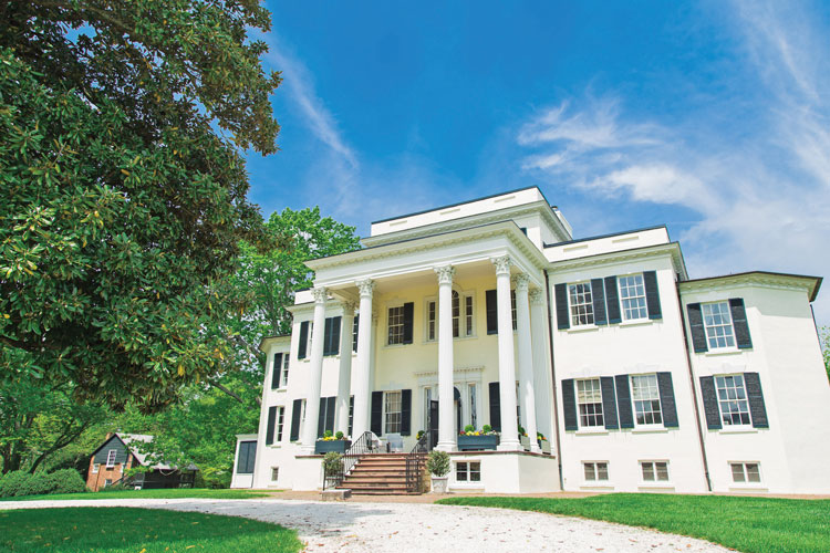 The mansion was originally built in 1804 by George Carter. It was renovated in the 1820s to reflect the Greek revival style we see today.