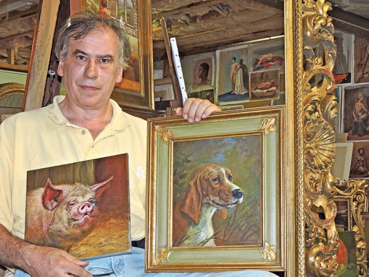 Anthony Barham in his studio.