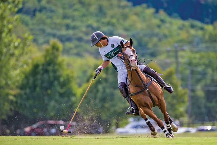Nacho Figueras competing at the 6th Annual National Sporting Library and Museum Polo Classic.