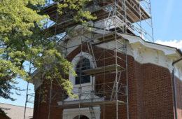 United Methodist Church Steeple Repair.