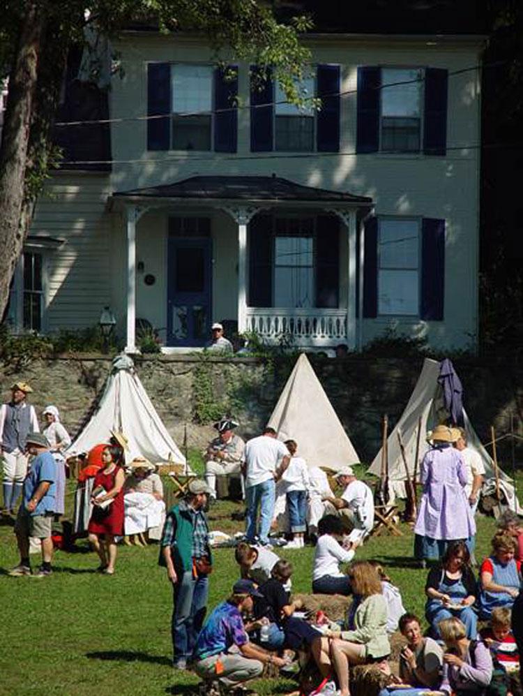 Reenactors encampment.