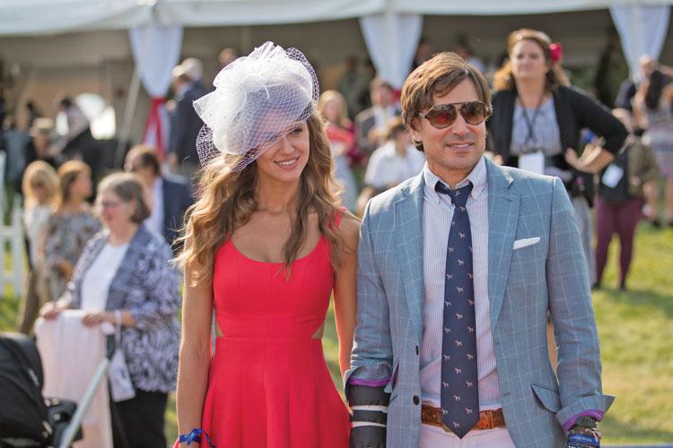 David Tafuri, International Lawyer, Fox News contributor, and accomplished polo player enjoys the day with model and girlfriend Anastasia Vakula.
