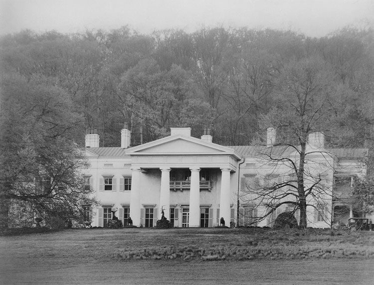 Davis Mansion at Morven Park prior to opening to the public.