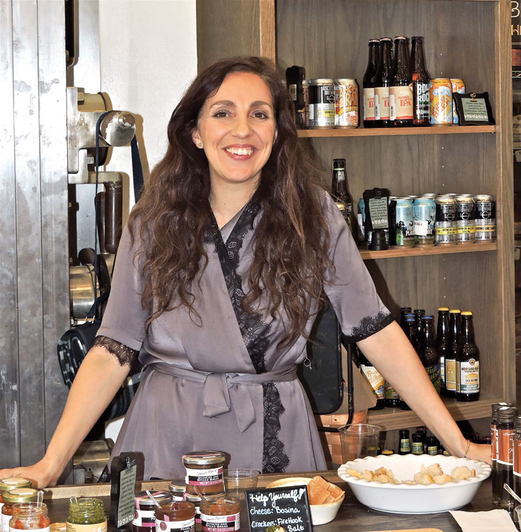Roberta Lyon introducing products from Forever Gourmet at Gentle Harvest.