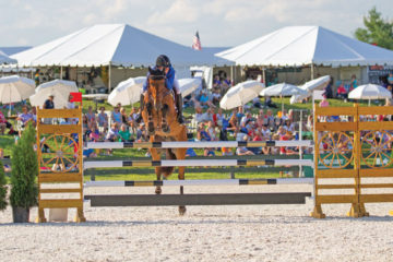 Jennie Brannigan and Cambalda led the US eventing team to victory at the 2017 Great Meadow International in July.