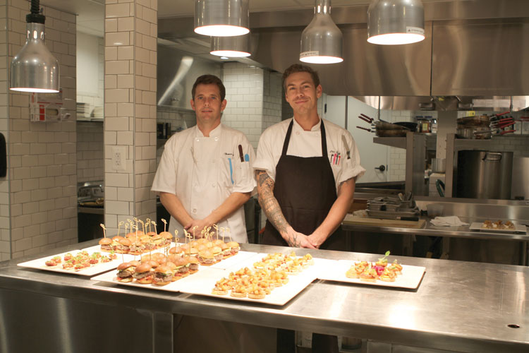 Executive Chef Eric Smith on right with Sous Chef Tommy Layman on left.