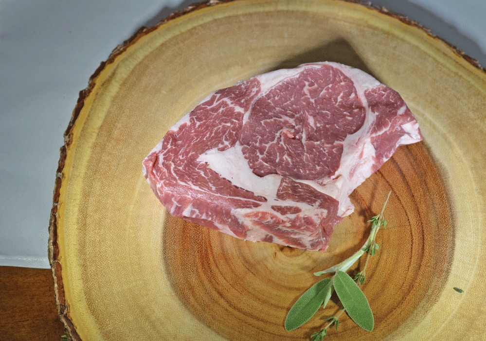 The diets include grass and grains to produce the rich marbling that produces consistently more flavorful, fresh beef. Photo courtesy of Blackwater Beef