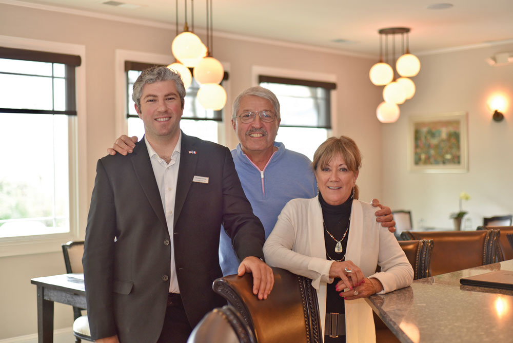 L'Auberge Provençale is a family affair. Pictured: Christian, Alain, and Celeste Borel.