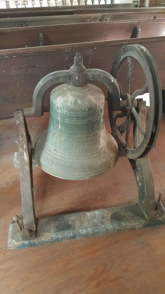 This is the bell from the Asbury church in town built in 1829.