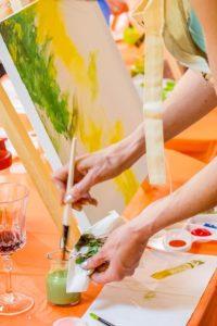 Wine & Painting Class @ Salamander Resort & Spa