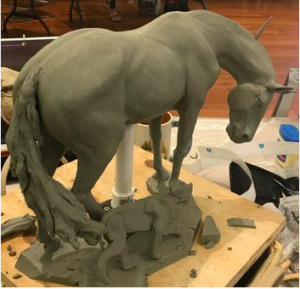 The Equine Sculpture Workshop @ The National Sporting Library and Museum