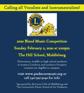 James A. Bland Music Competition @ The Hill School |  |  |