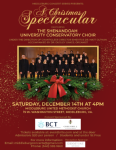 A Christmas Spectacular: Choral Concert @ Middleburg United Methodist Church |  |  |